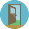 icon representing the access to a clinic