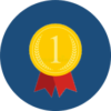icon representing a medal at the first place